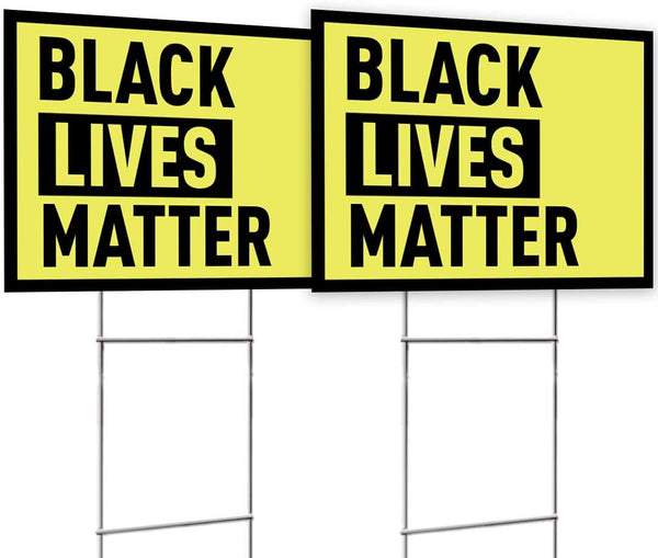 BLM Yellow Yard Sign