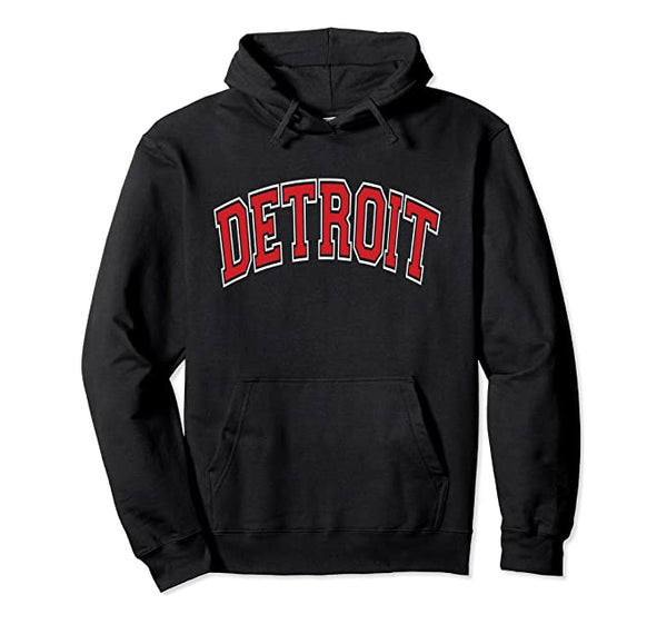 Detroit Red Letter Hoodie
