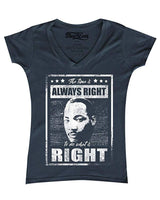 MLK Always Right Tee - Visibly Black