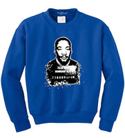 MLK Civil Rights Men's Sweatshirt - Visibly Black