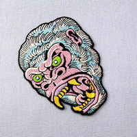 Roaring Gorilla Patch - Visibly Black