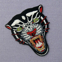 Roaring Panther Patch - Visibly Black
