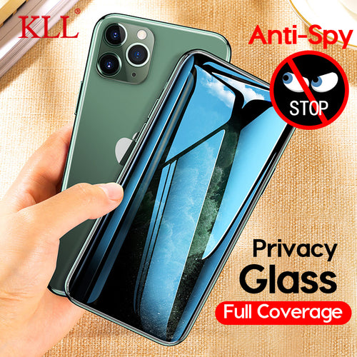 Anti-Spy Privacy Tempered Glass for iPhone 11 Pro Max, X, Xs Max XR, iPhone 8, 7, 6, 6s Plus - Anti-Spy Guru