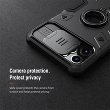 Load image into Gallery viewer, Anti-Spy Armor Case iPhone 11, 11 Pro, 11 Pro Max, CamShield Camera Protect Privacy Ring Kickstand - Anti-Spy Guru, Anti-Spy, Camera Protection Slider, Privacy, Webcam, Slider, Privacy Screen Protector, iphone, iPhone