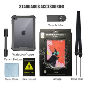 Waterproof Case for iPad Mini 5 iPad Mini 4 Case with Pencil Holder & Shoulder Strap & Stand - Anti-Spy Guru