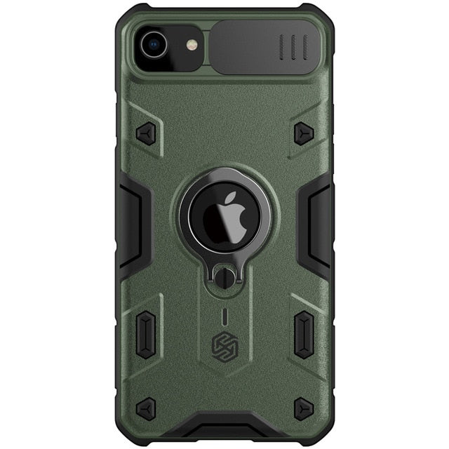 Anti-Spy Armor CamShield  Case For iPhone 7/8/ SE 2020 Rugged Shield Ring Kickstand - Anti-Spy Guru, Anti-Spy, Camera Protection Slider, Privacy, Webcam, Slider, Privacy Screen Protector, iphone, iPhone