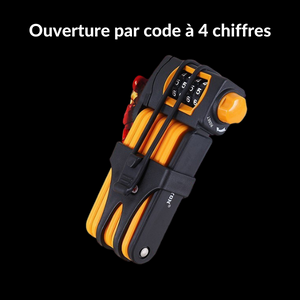 Antivol vélo pliable code orange