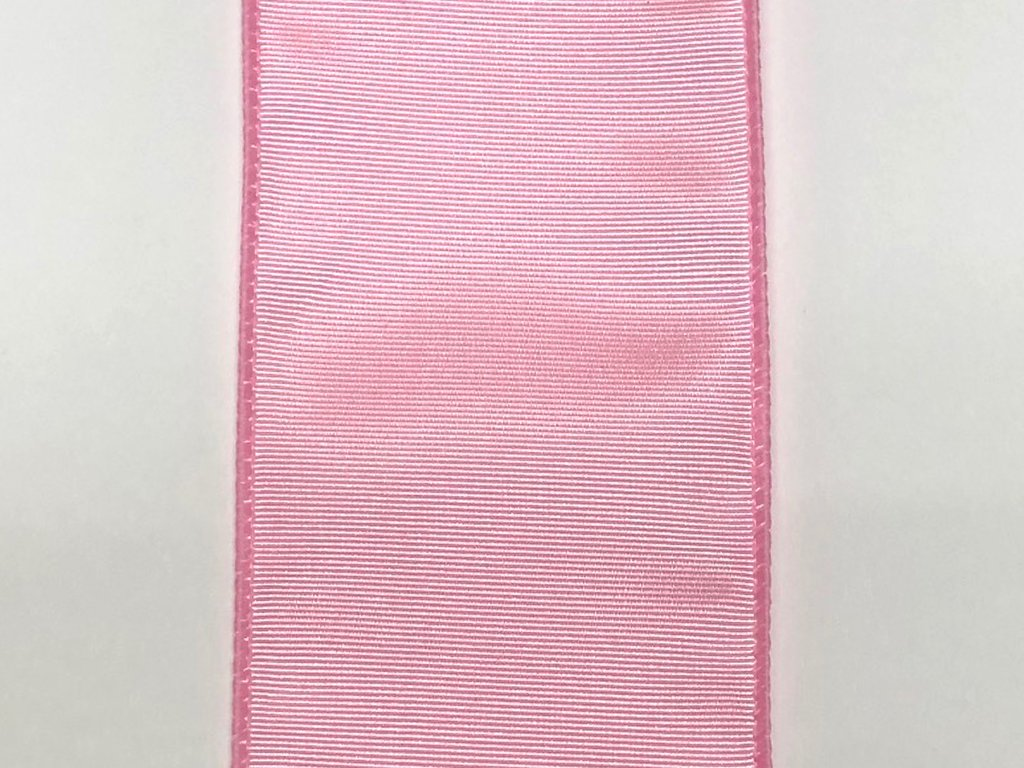 #40 Wired Moire' Ribbed Satin Ribbon- Pink