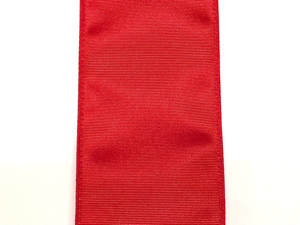 #40 Wired Moire' Ribbed Satin Ribbon- Red