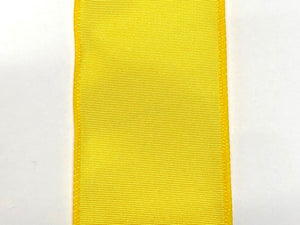#40 Wired Moire' Ribbed Satin Ribbon- Yellow