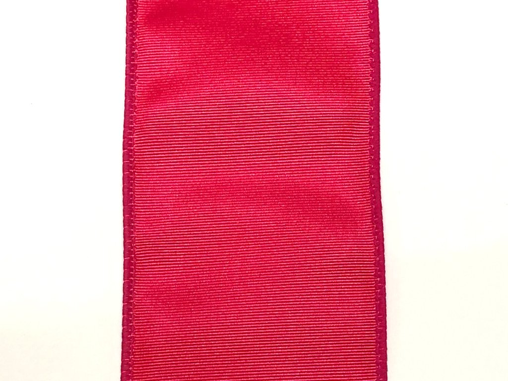 #40 Wired Moire' Ribbed Satin Ribbon- Fuschia