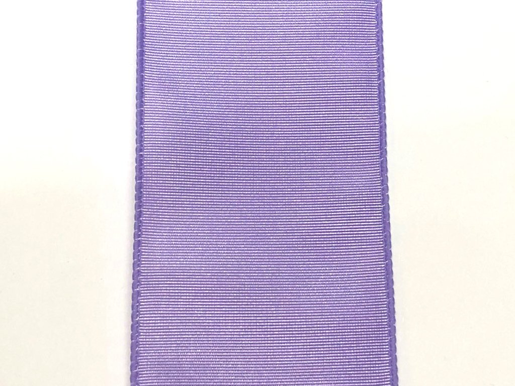 #40 Wired Moire' Ribbed Satin Ribbon- Lavender