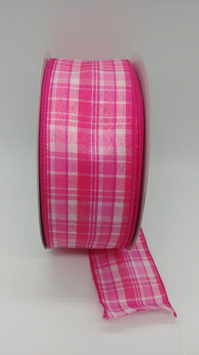 #40 Bertie Plaid- Pink / Fuschia / White