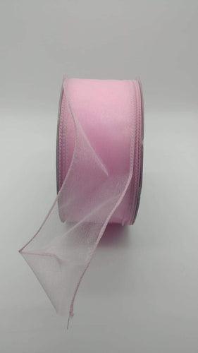 #40 Wired Sheer Ribbon- Pink