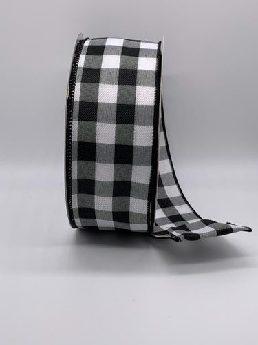 Wired Black and White Buffalo Plaid