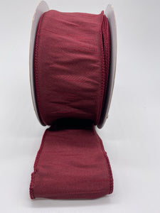 #40 Dupioni Supreme Ribbon - Burgundy, 20 yds..