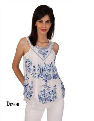 Devon silk chiffon top