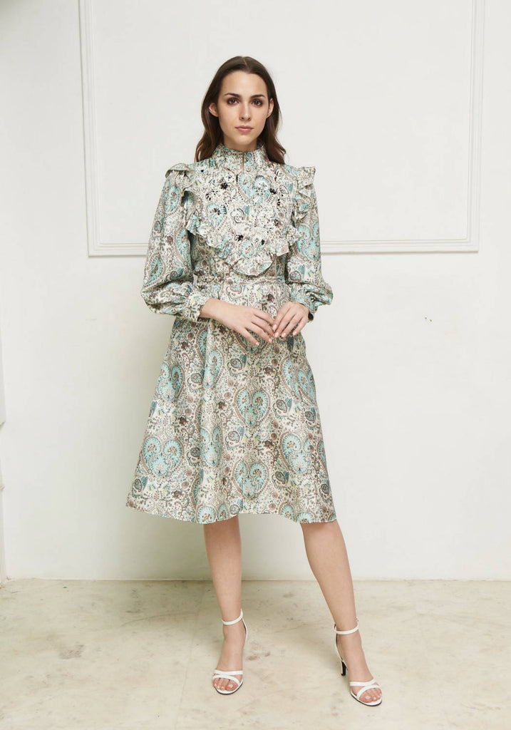 Ablington Liberty print  silk dress