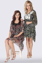 Load image into Gallery viewer, Crete floral Italian chiffon kaftan (right)