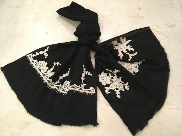 Archchamp French lace wool scarf