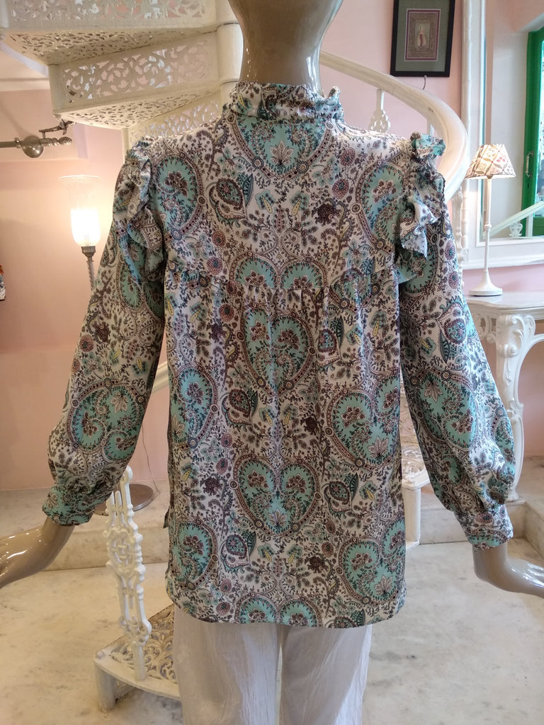 Leaves of Grass, New York Liberty print Brickworth Blouse