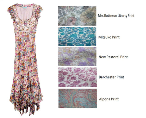 Aylesbury Liberty print maxi as seen in Vogue