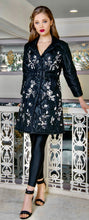 Load image into Gallery viewer, Courcheval silk hand embroidered puffer coat