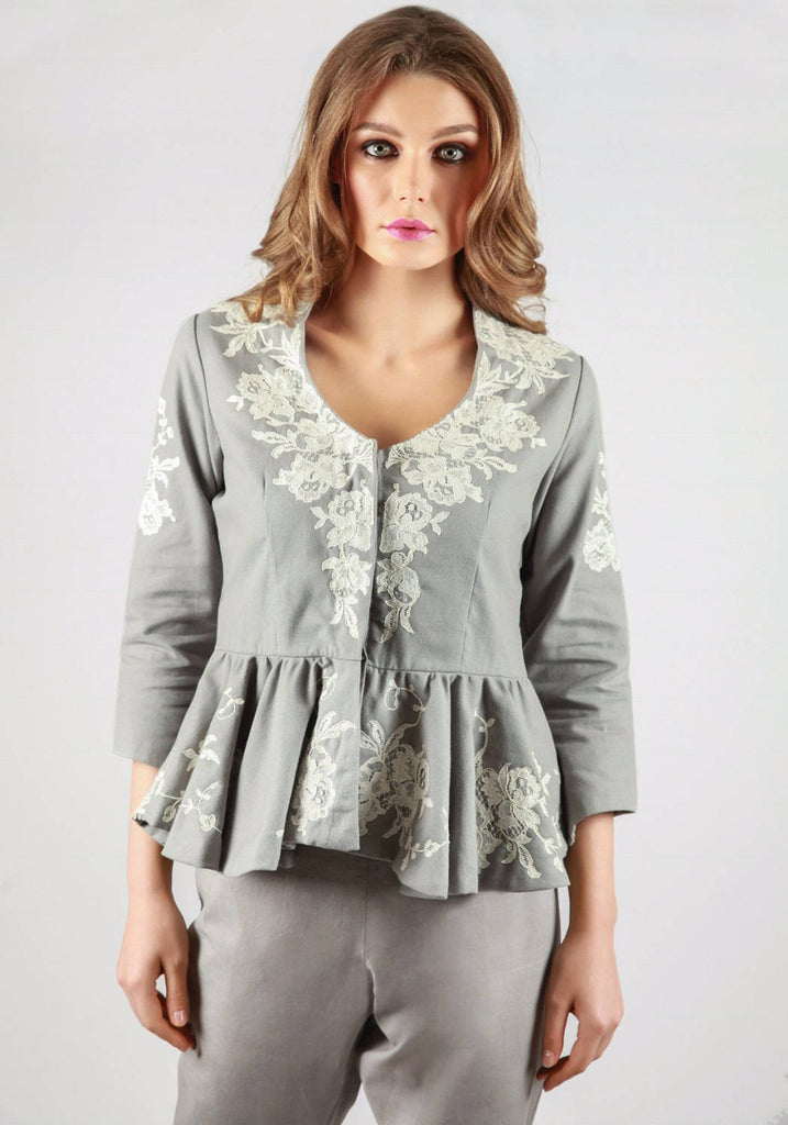 Rochefort French lace grey jacket
