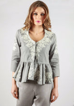 Load image into Gallery viewer, Rochefort French lace grey jacket