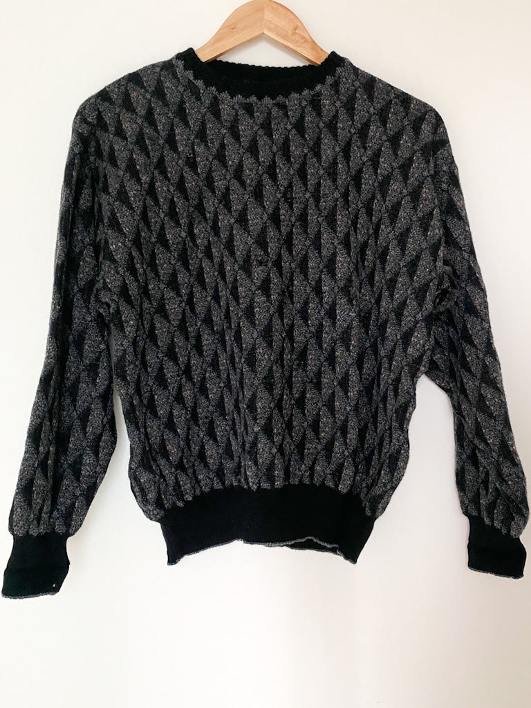 Vintage 100% Wool Distressed Sweater