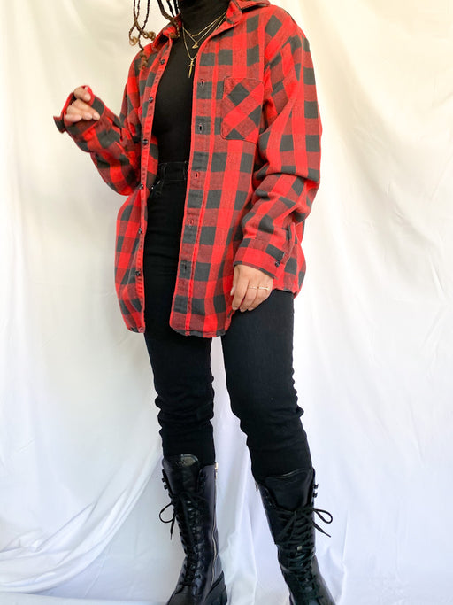 Vintage Red & Black Flannel