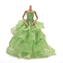 Load image into Gallery viewer, Colorful Elegant Handmade Summer Bridal Gown Princess Dress Clothes Wedding Party Dress For Barbie Doll Acessories