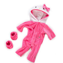 Load image into Gallery viewer, 2pcs/set Suit+Shoes Dolls Outfit For 43cm Baby Doll Cute Jumpers Rompers 17 Inch Zapf Doll Clothes