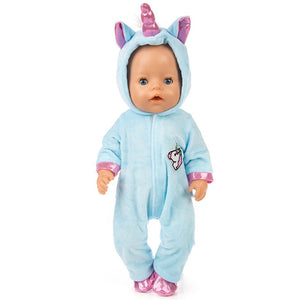 2pcs/set Suit+Shoes Dolls Outfit For 43cm Baby Doll Cute Jumpers Rompers 17 Inch Zapf Doll Clothes