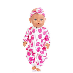 New Jumpsuits Fit For 43cm Baby Doll 17inch Born Doll Clothes
