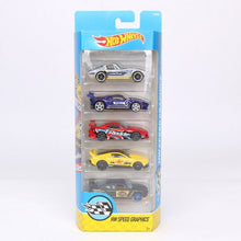 Load image into Gallery viewer, Original 5pcs/box Hotwheels Mini Car Collection Model Toys Hot Wheels 1:64 Fast and Furious Diecast Cars Alloy Sport Cars 1806