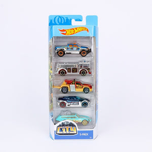 Original 5pcs/box Hotwheels Mini Car Collection Model Toys Hot Wheels 1:64 Fast and Furious Diecast Cars Alloy Sport Cars 1806