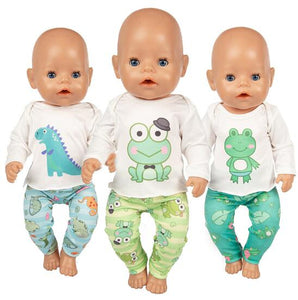 Fashion Frog  Surit Wear For 43cm Zapf Baby Doll 17 Inch Born Babies Dolls Clothes And Accessories