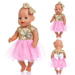 New Fashion Dress Wear For 43cm Zapf Baby Doll 17 Inch Born Babies Dolls Clothes And Accessories, Balloon not included