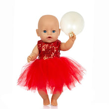 Load image into Gallery viewer, New Fashion Dress Wear For 43cm Zapf Baby Doll 17 Inch Born Babies Dolls Clothes And Accessories, Balloon not included