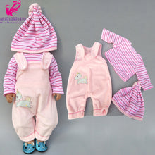 "Load image into Gallery viewer, doll clothes for 18 inch doll vest jacket shirt and pants for 18"" 43cm baby new born doll toys accessory baby girl gifts"
