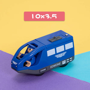 Kids Electric Train Toys Magnetic Slot Diecast Electric Railway with Two Carriages Train Wood Toy FIT T-hmas Wooden Brio Tracks