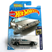 Load image into Gallery viewer, 2019 Hot Wheels 1:64 Car BACK TO THE FUTURE TIME MACHINE HOVER MODE Collector Edition Metal Diecast Cars Kids Toys Gift
