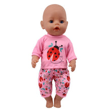 Load image into Gallery viewer, Doll Unicorn Clothes 15 Sets T-Shirt+Skirt/Pants Dress Fit 18 Inch American&43 Cm Baby New Born Doll Generation Christmas Girl`s