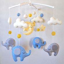 Load image into Gallery viewer, Baby Crib Holder White Rattles Arm Bracket Set Cot Fold 360 Degree Rotating Cribs Clamp Bed Bell Mobile Wind-up Music Box Toys