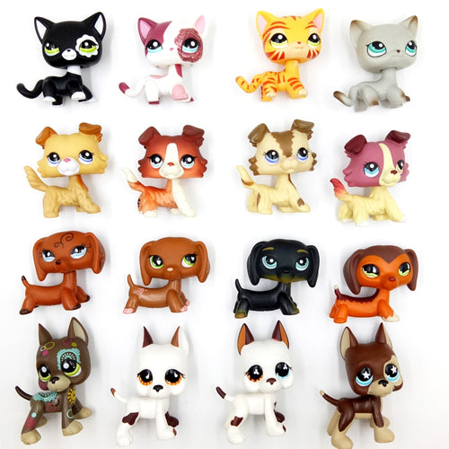 rare pet shop lps toys dog collie dachshund cocker spaniel great dane littlest short hair cat original stands Christmas gift