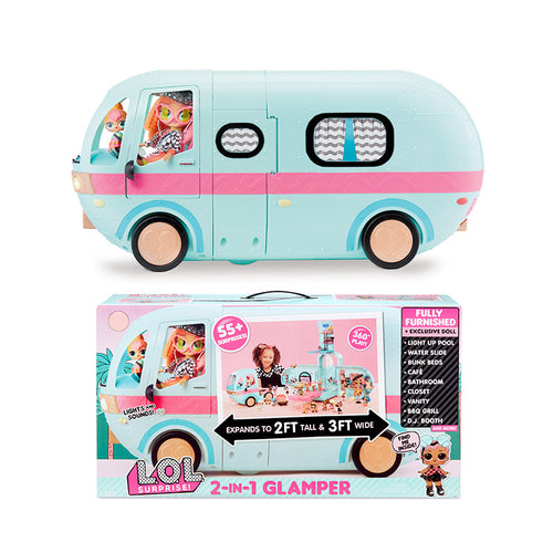 Original LOL Surprise Dolls 2-in-1 GLAMPER Toys Girls lols OMG Dolls sisters DIY Play House Toys for girl's Birthday Gifts