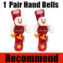 Load image into Gallery viewer, New Design Plush Baby Toy Animal Hand Bells Baby Rattle Toys High Quality Newbron Gift Animal Style Free Shipping BF01