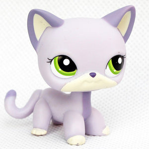 rare pet shop lps toys mini stands short hair kitten old figures collection original cute animal