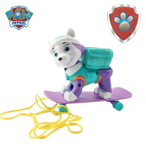 Paw Patrol Everest Tracker Dog Skateboard Puppies Snow Can Be Deformed Patrol Patrulla Canina PVC Action Figure Model Toys
